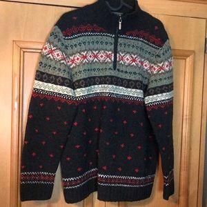 Ralph Lauren LAUREN sz S Hand knit wool sweater